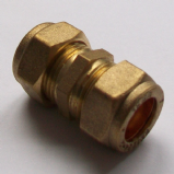 Brass Compression Straight Microbore Connector 12mm - 24401200